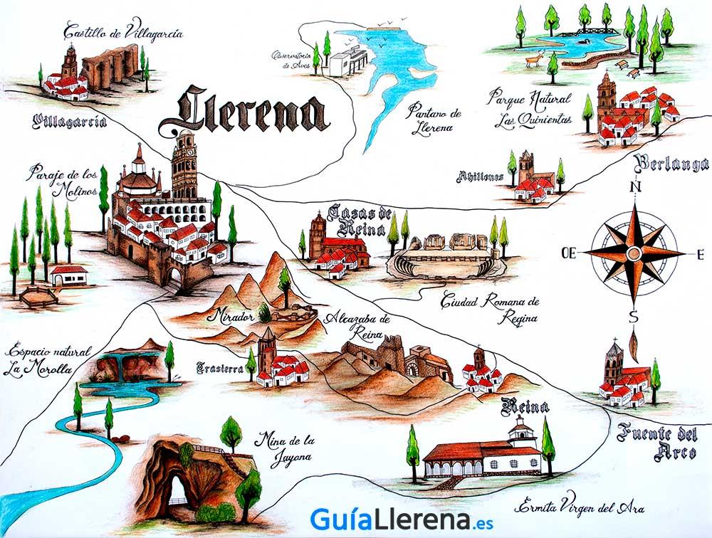 Mapa interactivo de Llerena y la Campiña Sur